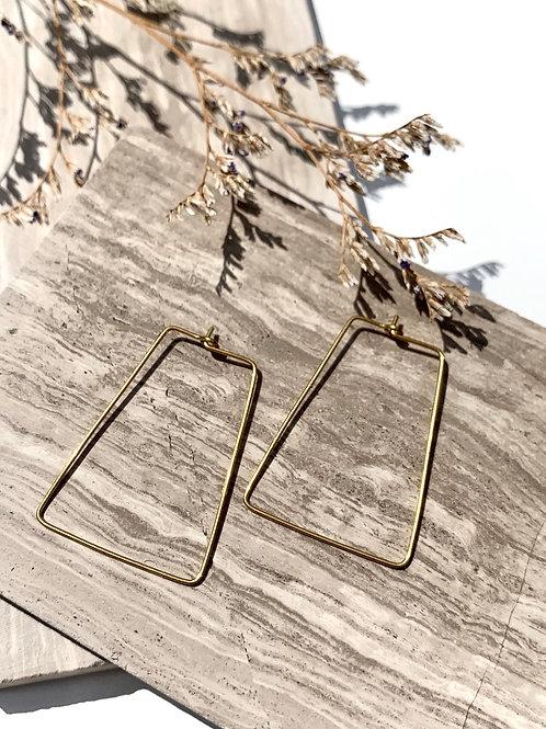 >>> Ebba - Brass Wire Earrings <<<