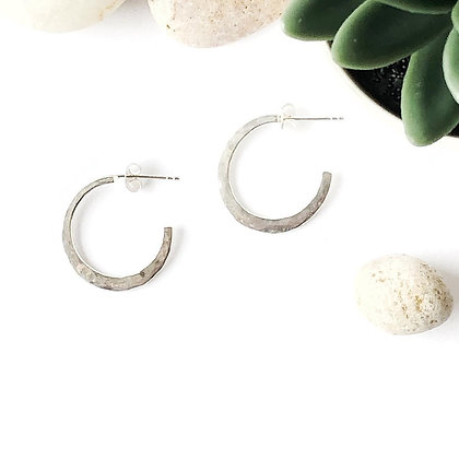 REBEL SOUL DESIGN Sterling Small Hoop Earrings