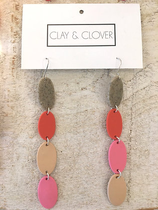 CLAY AND CLOVER Polymer Clay Earrings