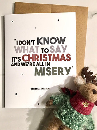 We're All in Misery Xmas card