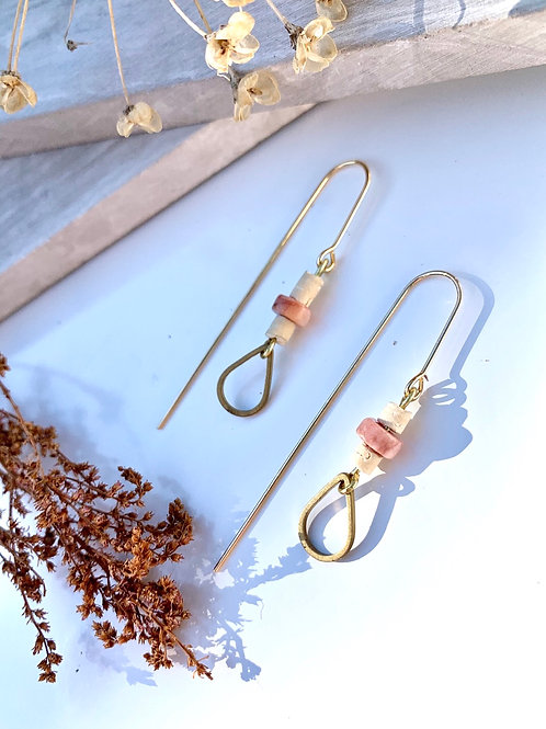'Willow' Rhodonite Teardrop Earrings