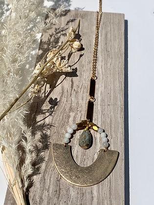 FRÜG 'Chimoa' Labradorite & Amazonite Necklace