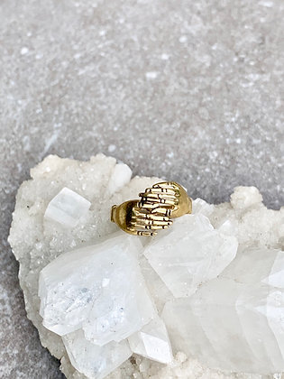 TAMARA STEINBORN 'Omphile' Bronze or Sterling Hands Ring