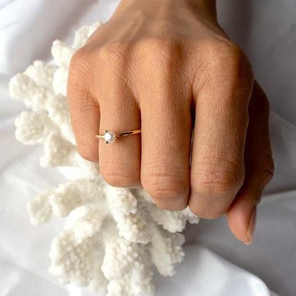 SARASWATI 'Sprite Ring' Sterling Silver + Pearl SWR07