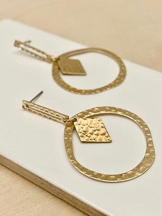 FRÜG 'Naya' Hammered Brass Earrings