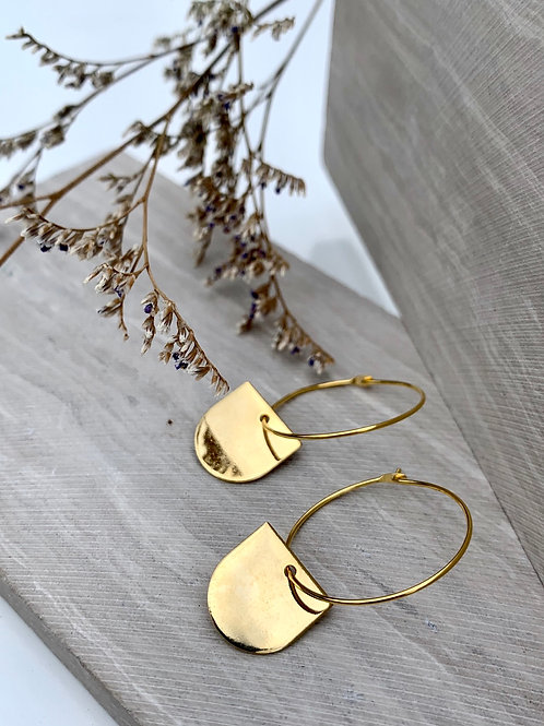 >>> DRIKA - Vintage Brass Drop Earrings <<<