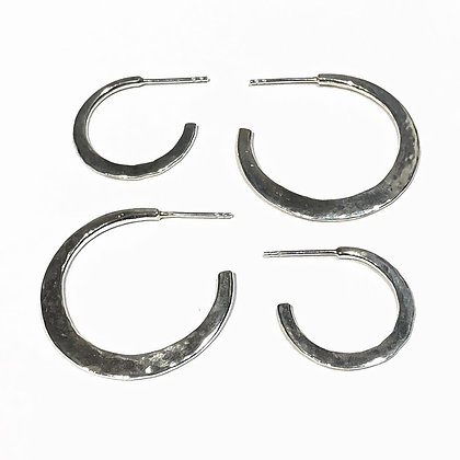 REBEL SOUL DESIGN Sterling Large Hoop Earrings #10RS