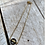 Thumbnail: Black + Gold Loop Bracelet FBA20