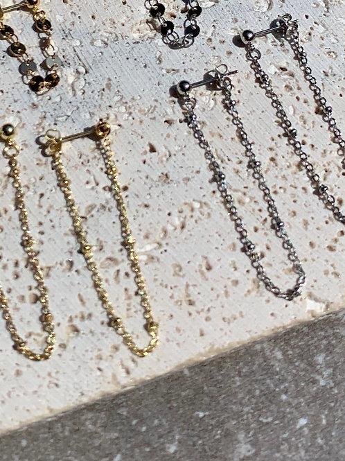 >>> ERLA - Goldplate or Silverplate Chain Earrings <<<