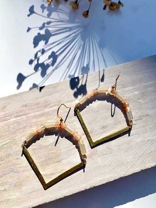 'Briley' Faceted Moonstone Earrings FE02