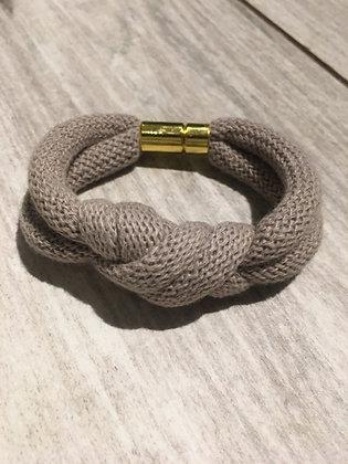 KNOT YOU KNOT ME 'Grey' Chunky Knotted Bracelet KYB01