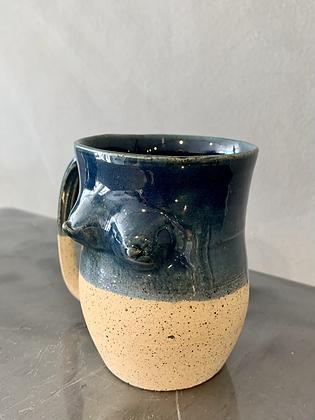 MOSELLE ANDERSON Beige/Blue  Speckled Boob Mug BOOB4
