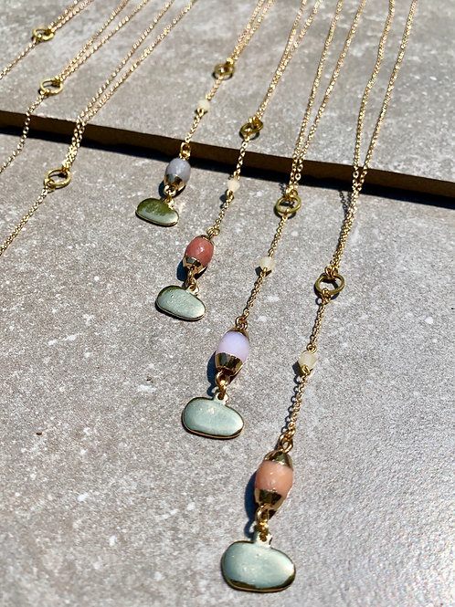 'Efua' Semi Precious Drop Necklace FN52