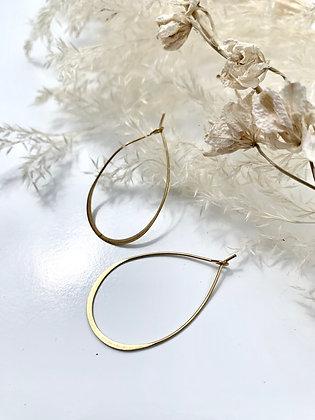 FRÜG 'Vanshni' Brass Wire Teardrop Earrings