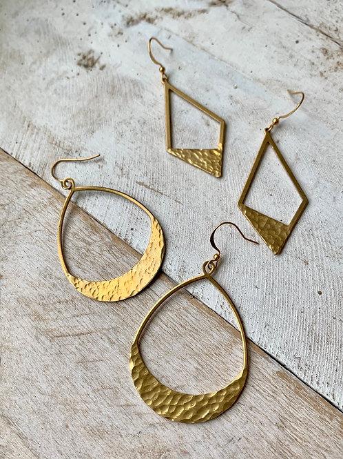 Brass Triangle  Cutouts or Brass Teardrop Cutouts FEA50