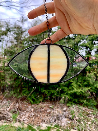 SUMMON DESIGN Stained Glass Evil Eye Suncatcher (pickup/delivery only)