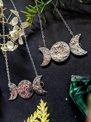 WORN  BY WARRIORS  - sterling silver triple goddess