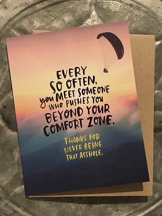 Comfort Zone birthday card