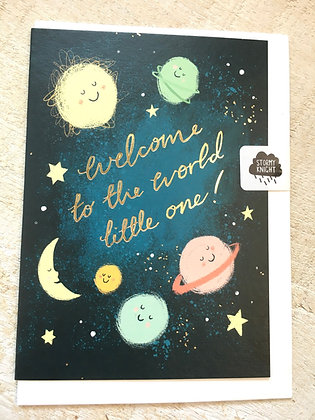 New Baby 👶 card with gold foil CR53