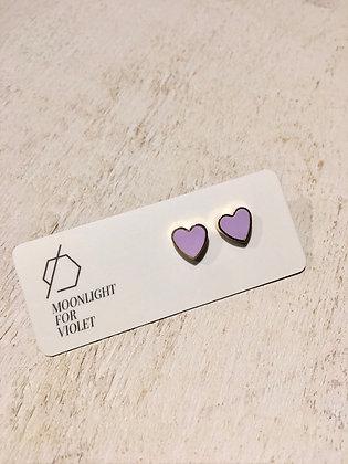 MOONLIGHT FOR VIOLET 'Mauve' Heart Earrings MVH02