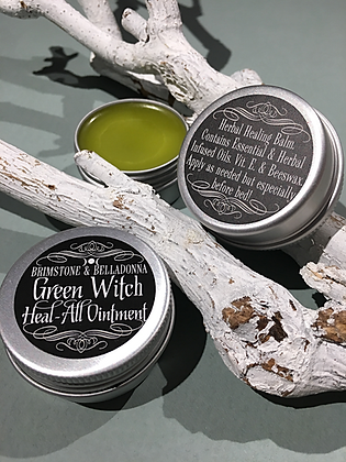 BRIMSTONE & BELLADONNA Green Witch Healing Balm