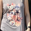 Thumbnail: Cat Head Flowy Tank Top - Grey TS15