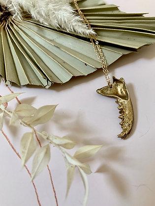TAMARA STEINBORN 'Bite'  Bronze or Sterling Necklace