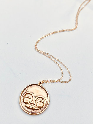 TAMARA STEINBORN 'Mawu' Bronze or Sterling Moonface Necklace