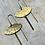 Thumbnail: Brass Eye Shape Dangle Earrings FEA54