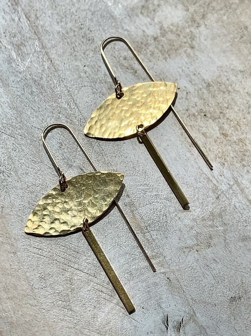 Brass Eye Shape Dangle Earrings FEA54