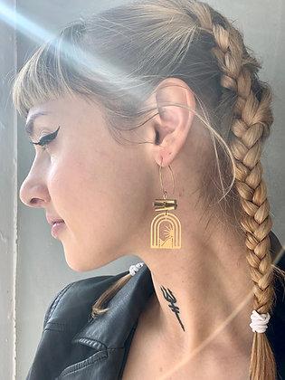 FRÜG Brass Bars + Arc Sunrise Earrings FEA27