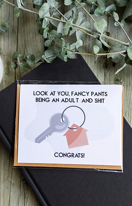 New Home / Adulting greeting card