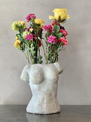 Cement Female Torso Vase - HG55  (does not ship)