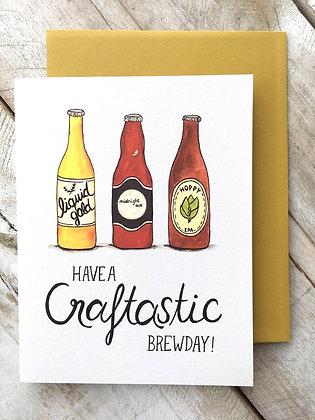Craft Beer Birthday card