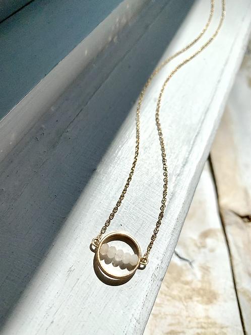 Loop + Moonstone Necklace FNA90