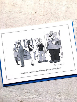 New Yorker Popeye and Bluto greeting card