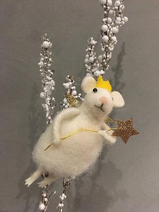 Fairy mouse Christmas tree ornament cute gift idea stocking stuffer
