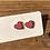 Thumbnail: MOONLIGHT FOR VIOLET 'Sunset Pink' Heart Earrings MVH01