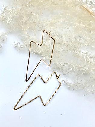 """FRÜG """"Bowie"""" Brass Lightning Earrings"""