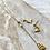 Thumbnail: Geometric Necklace + Earrings  FNA73SET