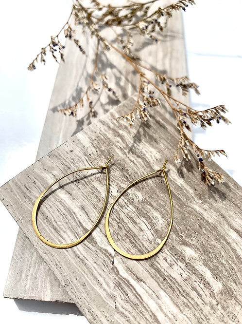 'Vanshni' Brass Wire Teardrop Earrings