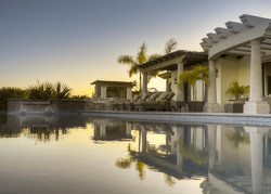 casa elias pool sunset