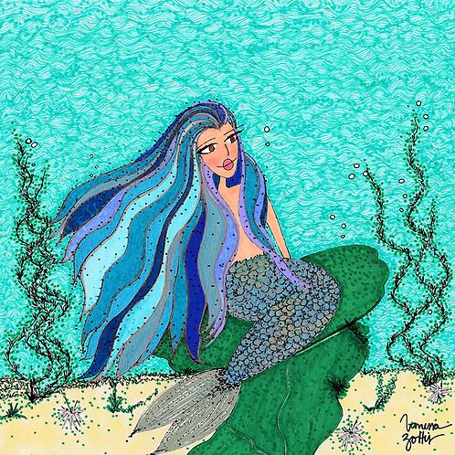 Ilustração Rainha do Mar Sereia