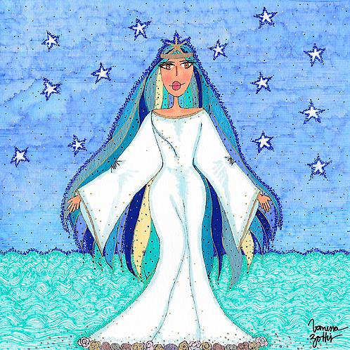 Ilustração Rainha do Mar Iemanjá