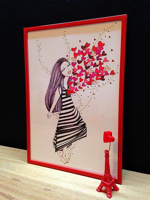 Ilustração Dentro de você... amor