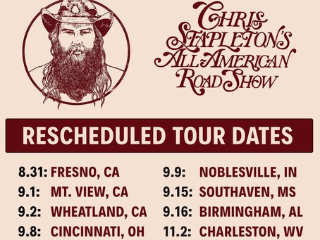 Chris Stapleton Rescheduled Tour Dates