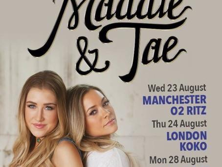 Maddie & Tae UK Tour 2017