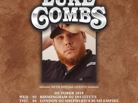 Luke Combs UK Tour 2018