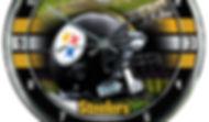 Steelers Chrome Clock