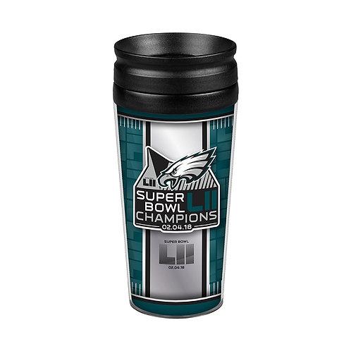 Super Bowl LII Eagles Tumbler